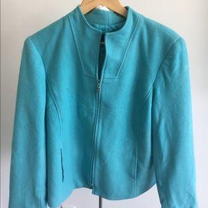 Beautiful Wool Blend Teal Jacket size 16P